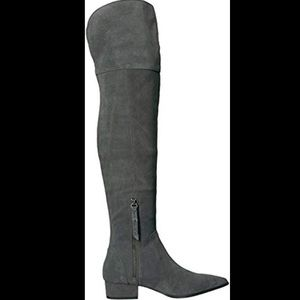 Splendid Ruby Grey Suede Over The Knee Boots